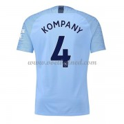 Voetbalshirts Clubs Manchester City 2018-19 Vincent Kompany 4 Thuisshirt..