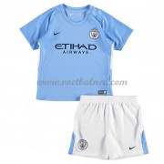Voetbaltenue Kind Manchester City 2017-18 Thuisshirt