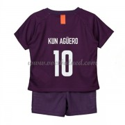 Voetbaltenue Kind Manchester City 2018-19 Kun Aguero 10 Third Shirt