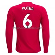 Voetbalshirts Clubs Manchester United 2017-18 Paul Pogba 6 Thuisshirt Lange Mouw..