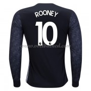Voetbalshirts Clubs Manchester United 2017-18 Wayne Rooney 10 Uitshirt Lange Mouw..