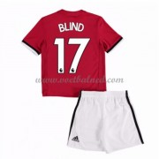 Voetbaltenue Kind Manchester United 2017-18 Blind 17 Thuisshirt..