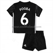 Voetbaltenue Kind Manchester United 2017-18 Paul Pogba 6 Uitshirt..