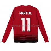 Voetbaltenue Kind Manchester United 2018-19 Anthony Martial 11 Thuisshirt Lange Mouw..