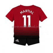 Voetbaltenue Kind Manchester United 2018-19 Anthony Martial 11 Thuisshirt..