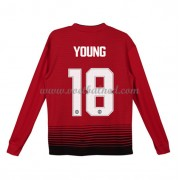 Voetbaltenue Kind Manchester United 2018-19 Ashley Young 18 Thuisshirt Lange Mouw..