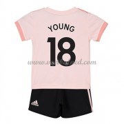 Voetbaltenue Kind Manchester United 2018-19 Ashley Young 18 Uitshirt..