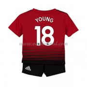 Voetbaltenue Kind Manchester United 2018-19 Ashley Young 18 Thuisshirt..