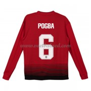 Voetbaltenue Kind Manchester United 2018-19 Paul Pogba 6 Thuisshirt Lange Mouw