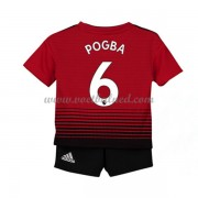 Voetbaltenue Kind Manchester United 2018-19 Paul Pogba 6 Thuisshirt