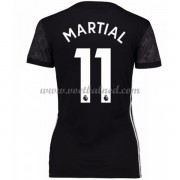 Goedkope Voetbalshirts Dames Manchester United 2017-18 Martial 11 Uitshirt..