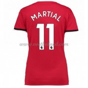 Goedkope Voetbalshirts Dames Manchester United 2017-18 Martial 11 Thuisshirt..