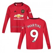 Voetbaltenue Kind Manchester United 2019-20 Anthony Martial 9 Thuisshirt Lange Mouw..