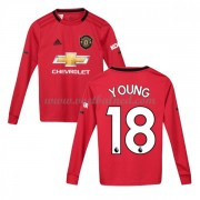 Voetbaltenue Kind Manchester United 2019-20 Ashley Young 18 Thuisshirt Lange Mouw..