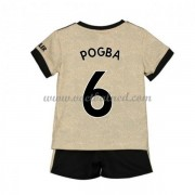 Voetbaltenue Kind Manchester United 2019-20 Paul Pogba 6 Uitshirt