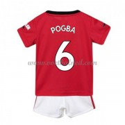 Voetbaltenue Kind Manchester United 2019-20 Paul Pogba 6 Thuisshirt