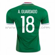 Voetbaltenue Mexico Nationale Elftal 2016 Andres Guardado 18 Thuisshirt..