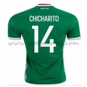 Voetbaltenue Mexico Nationale Elftal 2016 Chicharito 14 Thuisshirt..