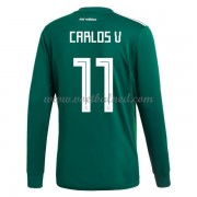 Voetbaltenue Mexico 2018 Carlos Vela 11 Thuisshirt Lange Mouw..
