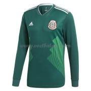 Voetbaltenue Mexico 2018 Thuisshirt Lange Mouw..