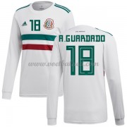 Voetbalshirts Mexico WK 2018 Andres Guardado 18 Uitshirt Lange Mouw..