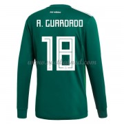 Voetbalshirts Mexico WK 2018 Andres Guardado 18 Thuisshirt Lange Mouw..