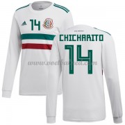 Voetbalshirts Mexico WK 2018 Chicharito 14 Uitshirt Lange Mouw..