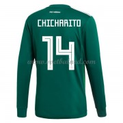 Voetbalshirts Mexico WK 2018 Chicharito 14 Thuisshirt Lange Mouw..