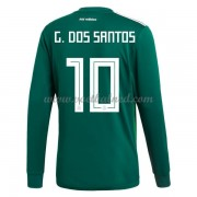 Voetbalshirts Mexico WK 2018 Giovani dos Santos 10 Thuisshirt Lange Mouw..