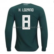Voetbalshirts Mexico WK 2018 Hirving Lozano 8 Thuisshirt Lange Mouw..