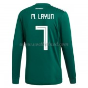 Voetbalshirts Mexico WK 2018 Miguel Layun 7 Thuisshirt Lange Mouw..
