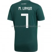 Voetbalshirts Mexico WK 2018 Miguel Layun 7 Thuisshirt..