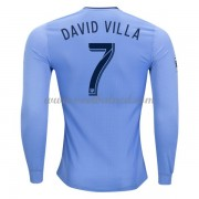 Voetbalshirts Clubs New York City 2017-18 David Villa 7 Thuisshirt Lange Mouw..
