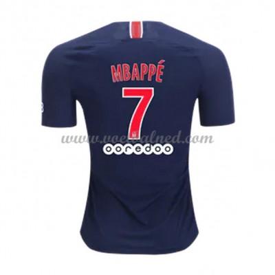 Voetbalshirts Clubs Paris Saint Germain PSG 2018-19 Kylian Mbappé 7 Thuisshirt