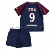 Voetbaltenue Kind Paris Saint Germain PSG 2017-18 Edinson Cavani 9 Thuisshirt..