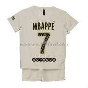 Voetbaltenue Kind Paris Saint Germain PSG 2018-19 Kylian Mbappé 7 Uitshirt..