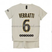 Voetbaltenue Kind Paris Saint Germain PSG 2018-19 Marco Verratti 6 Uitshirt..