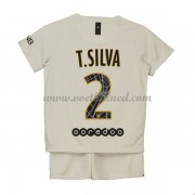 Voetbaltenue Kind Paris Saint Germain PSG 2018-19 T. Silva 2 Uitshirt..
