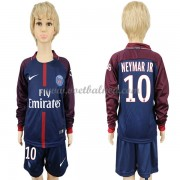 Voetbaltenue Kind Paris Saint Germain Psg 2017-18 Neymar Jr 10 Thuisshirt Lange Mouw..