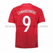 Voetbaltenue Polen Nationale Elftal 2016 Robert Lewandowski 9 Uitshirt..