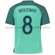 Voetbaltenue Portugal Nationale Elftal 2016 Joao Moutinho 8 Uitshirt..