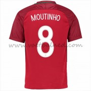 Voetbaltenue Portugal Nationale Elftal 2016 Joao Moutinho 8 Thuisshirt..