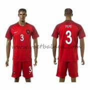 Voetbaltenue Portugal Nationale Elftal 2016 Pepe 3 Thuisshirt..