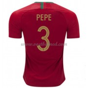 Voetbalshirts Portugal WK 2018 Pepe 3 Thuisshirt..