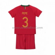 Voetbaltenue Kind Portugal 2018 Pepe 3 Thuisshirt..