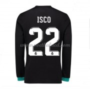 Voetbalshirts Clubs Real Madrid 2017-18 Isco 22 Uitshirt Lange Mouw..