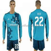 Voetbalshirts Clubs Real Madrid 2017-18 Isco 22 Third Shirt Lange Mouw..
