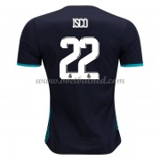 Voetbalshirts Clubs Real Madrid 2017-18 Isco 22 Uitshirt..