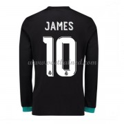 Voetbalshirts Clubs Real Madrid 2017-18 James Rodriguez 10 Uitshirt Lange Mouw..