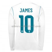 Voetbalshirts Clubs Real Madrid 2017-18 James Rodriguez 10 Thuisshirt Lange Mouw..